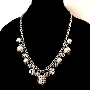 WHITE HOUSE BLACK MARKET silver bauble necklace